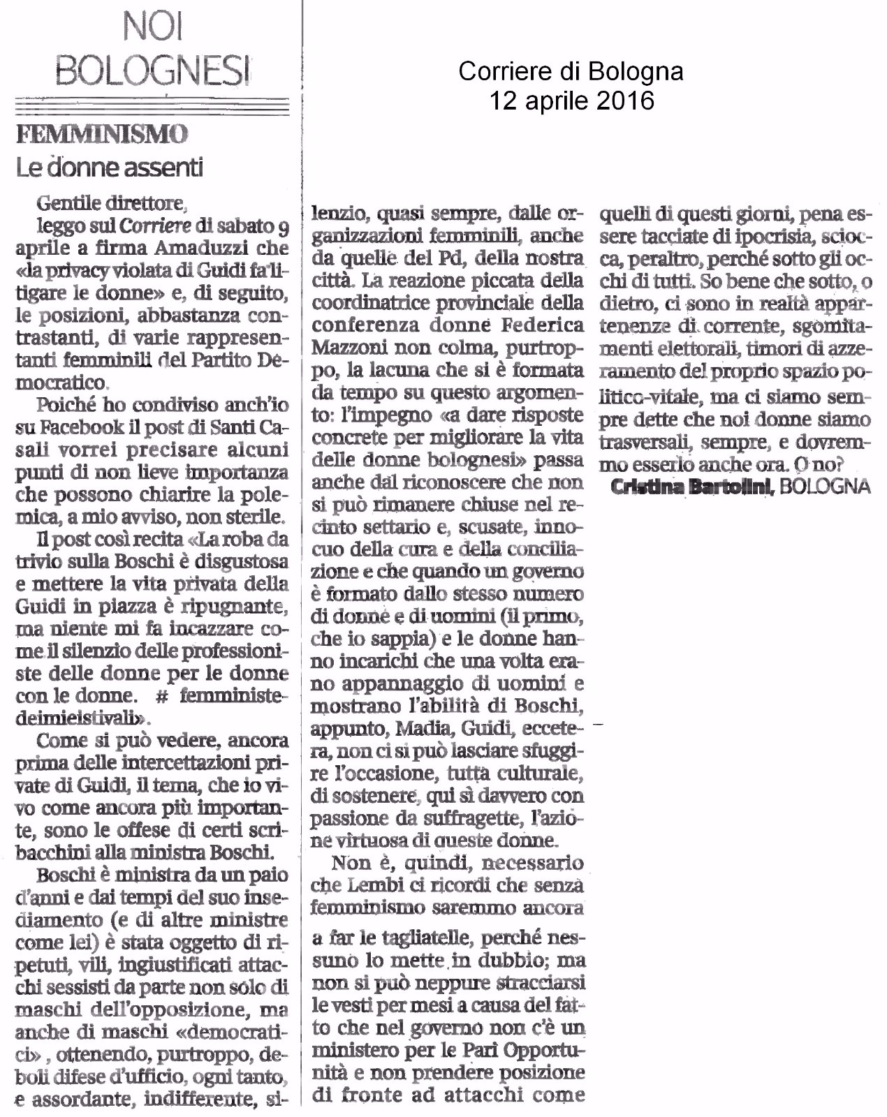 Lettera Corriere CB